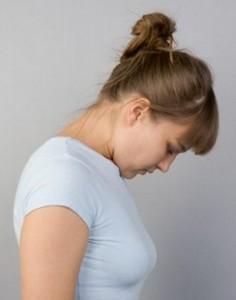 Коснитесь подбородком груди