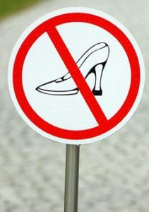 Каблуки носить нельзя