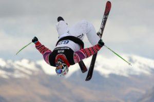 Лыжник в небе