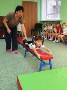 скамейка гимнастическая детская