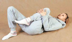 Подтягивание согнутого колена