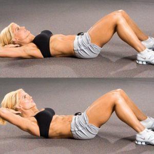 Напряжение мышц живота