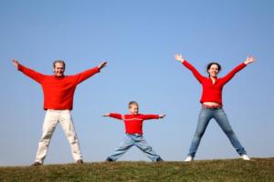 Зарядка всей семьей